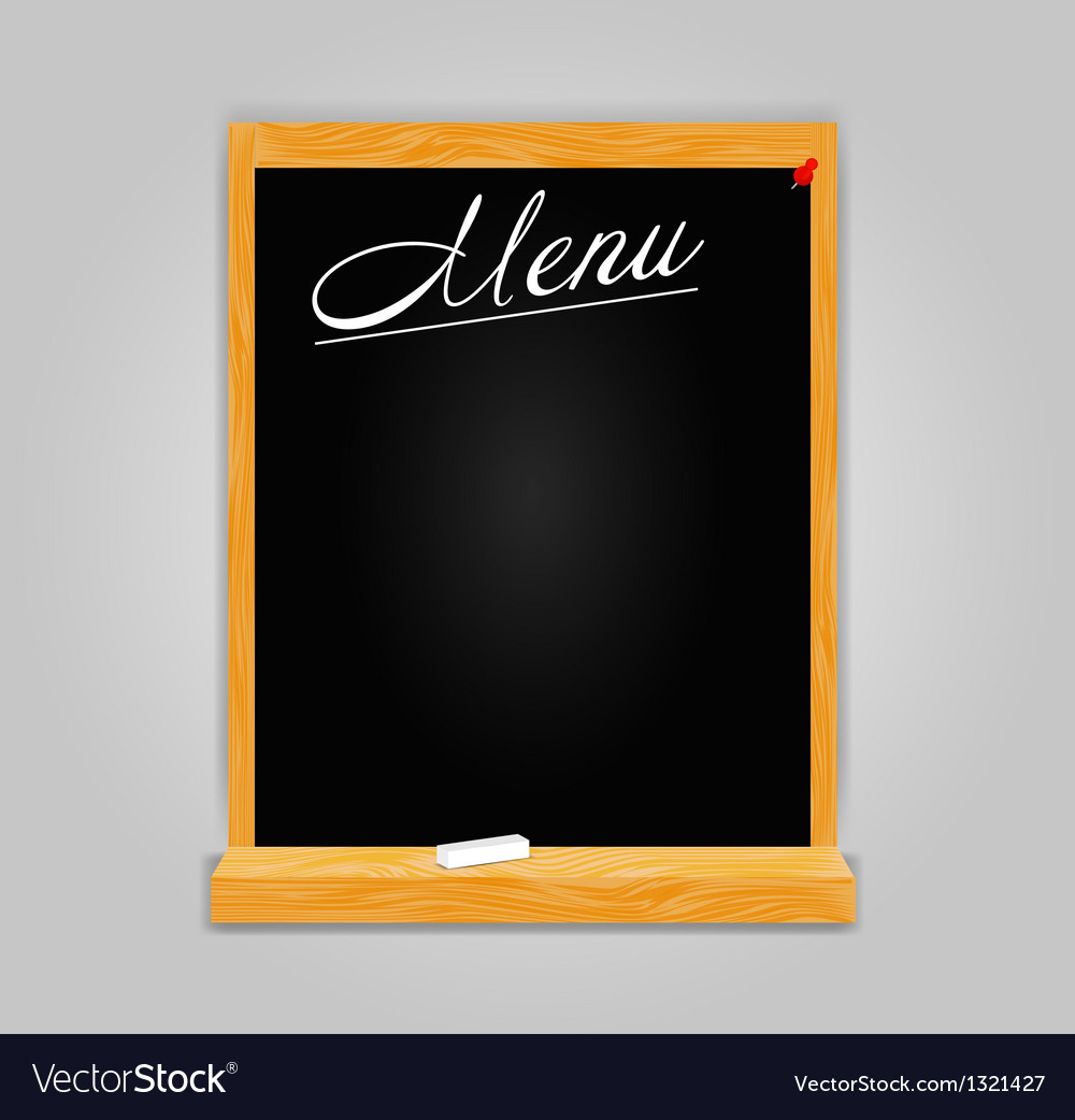 Restaurant menu template in retro style vector image