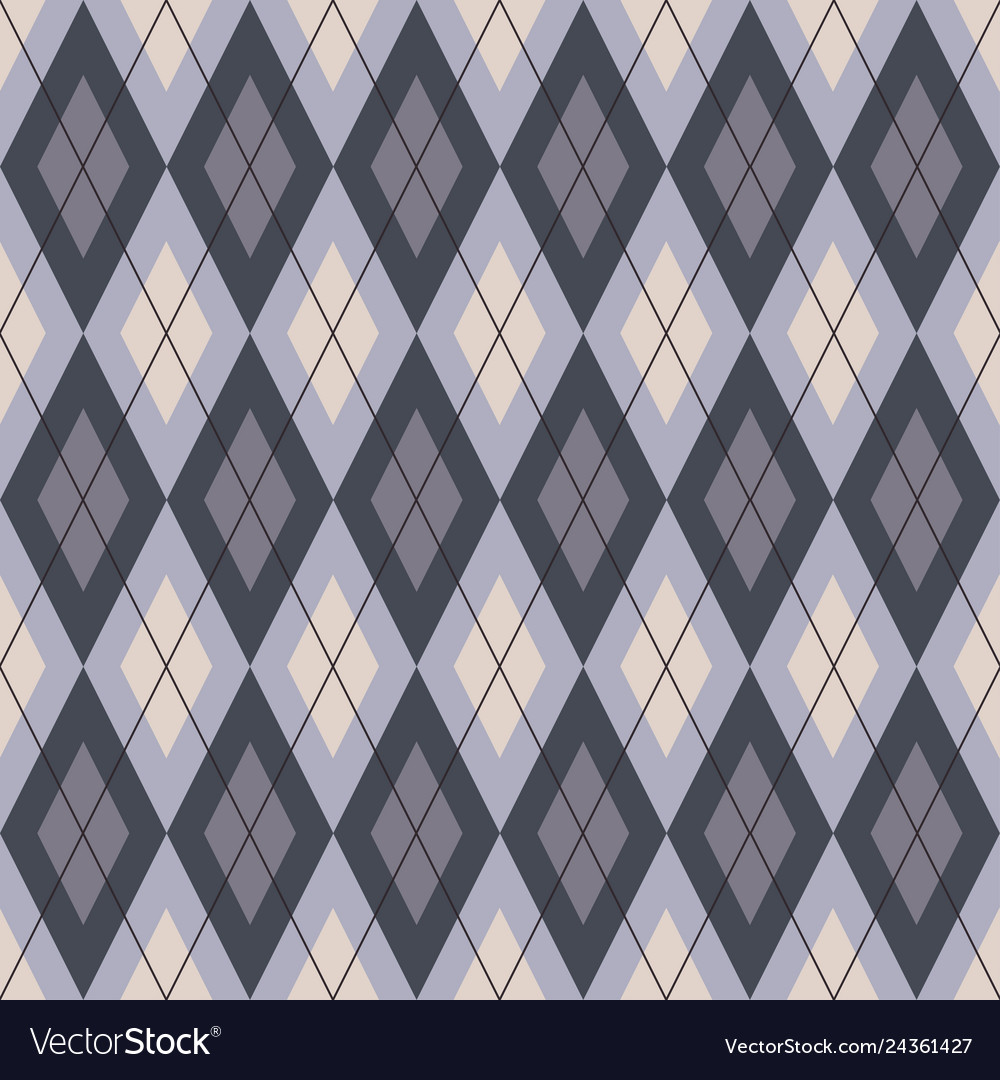 Seamless geometric pattern plaid cell diagonal vector