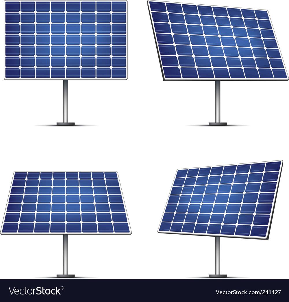 solar panels royalty free vector image vectorstock