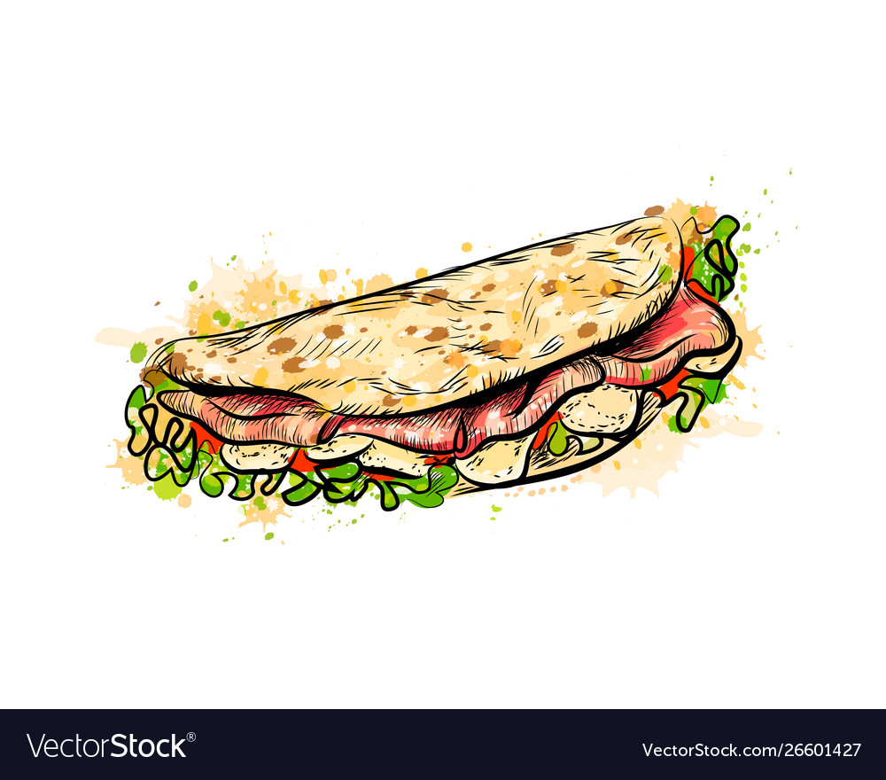 Taco mexican fast food traditional tacos from a