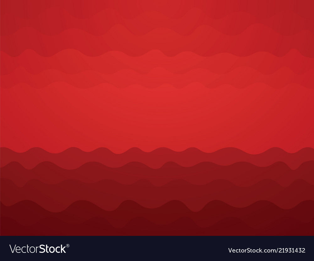 Abstract red blood waves background