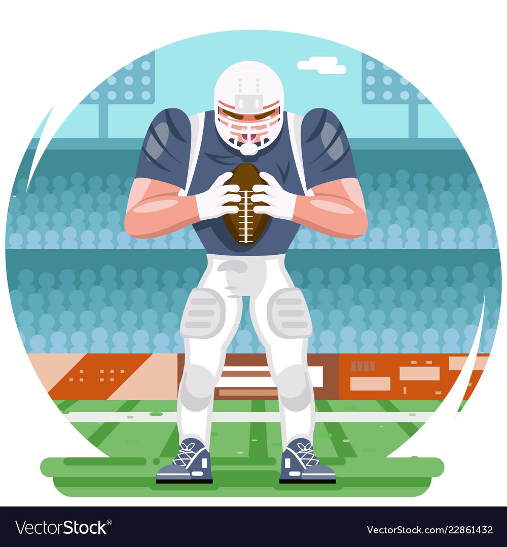 American football rugplayer character aggressive