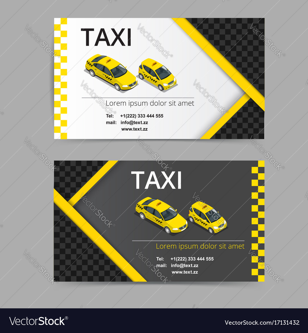 Business card design in black white and yellow vector image colourmoves