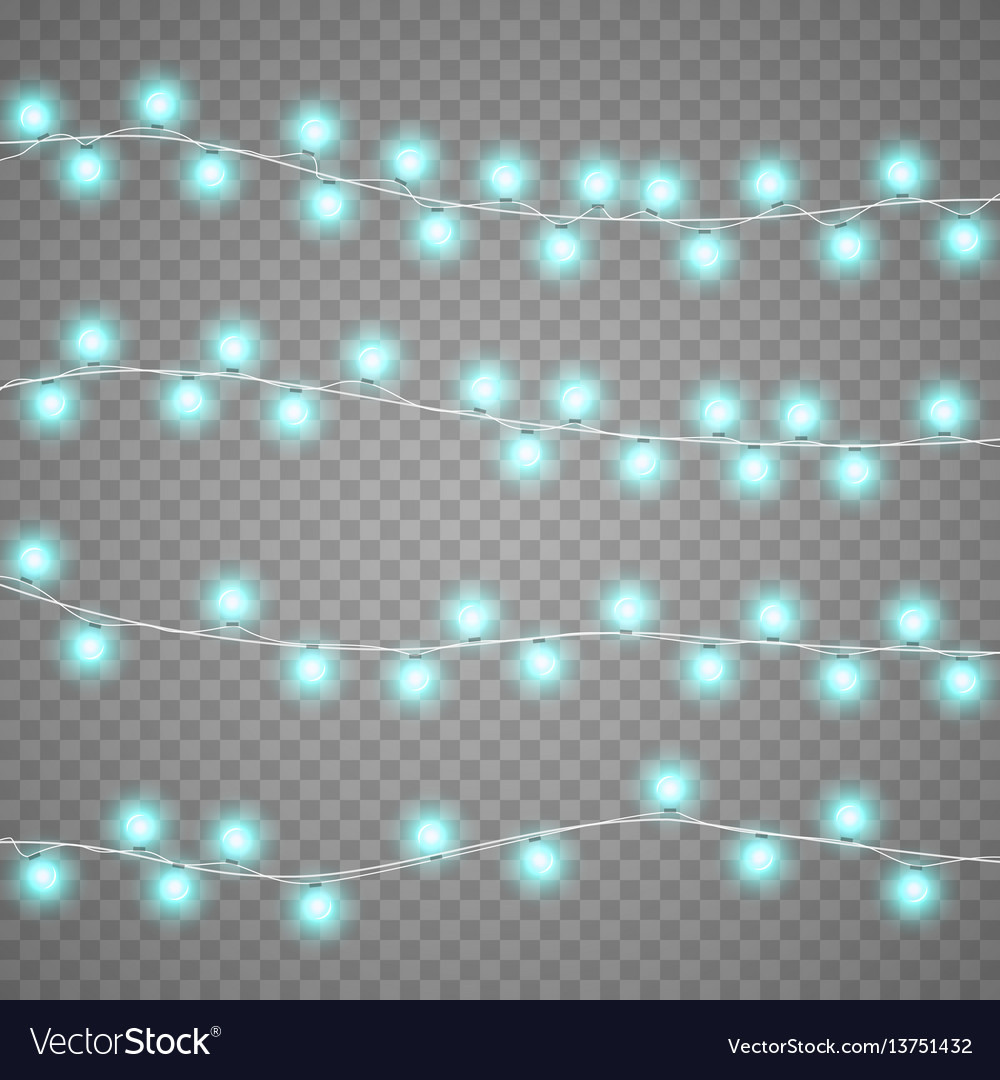 Christmas garlands isolation on transparent