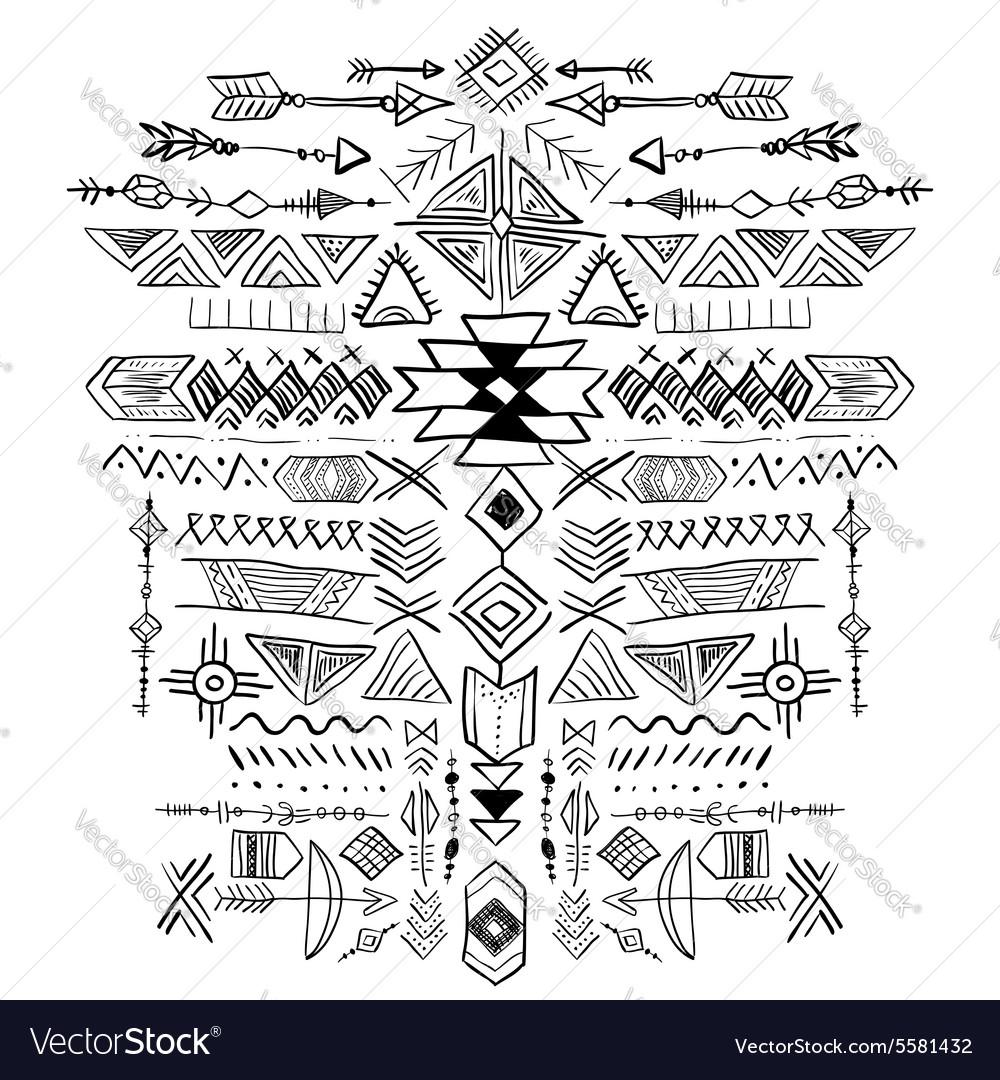 Navajo Aztec Tribal ethnic ornament