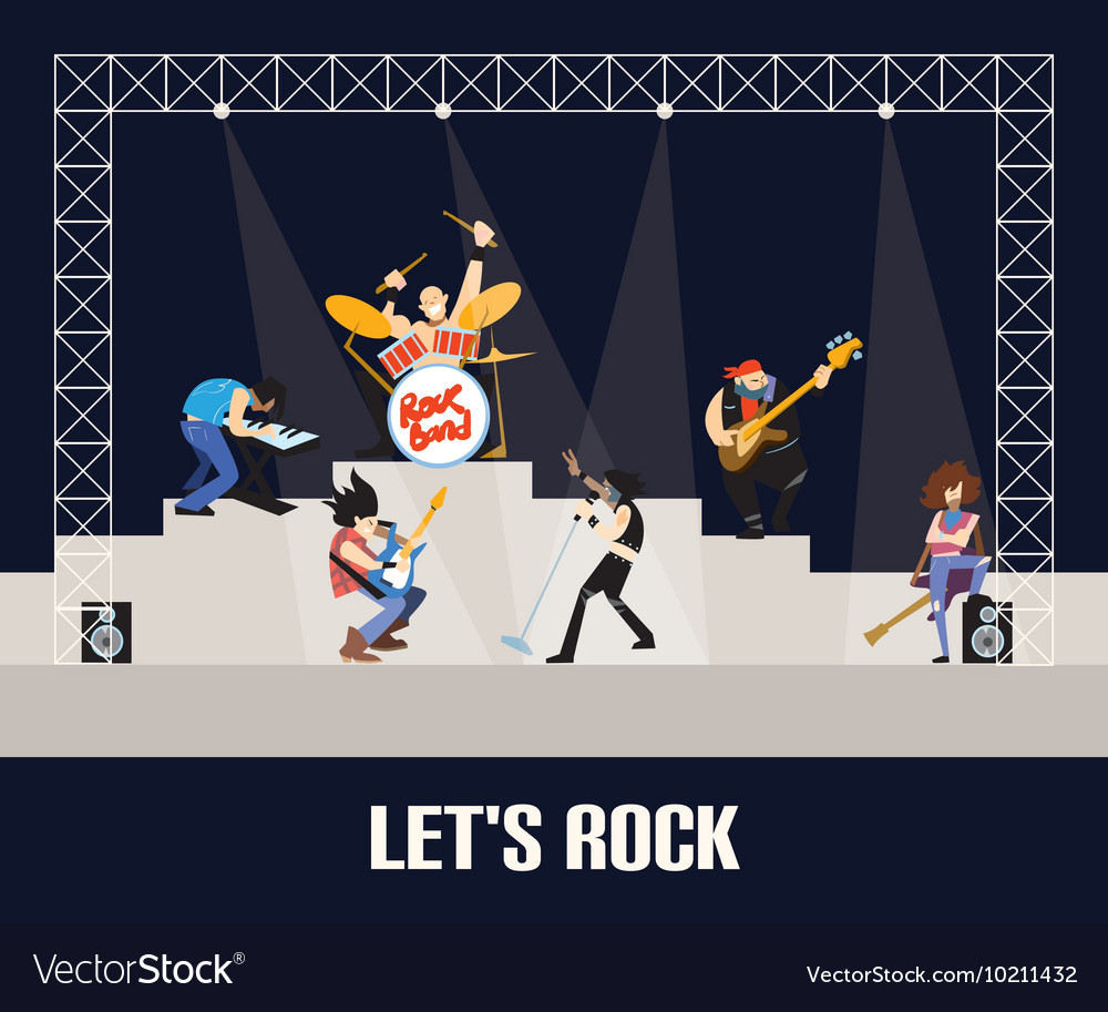 Rock band music group concert