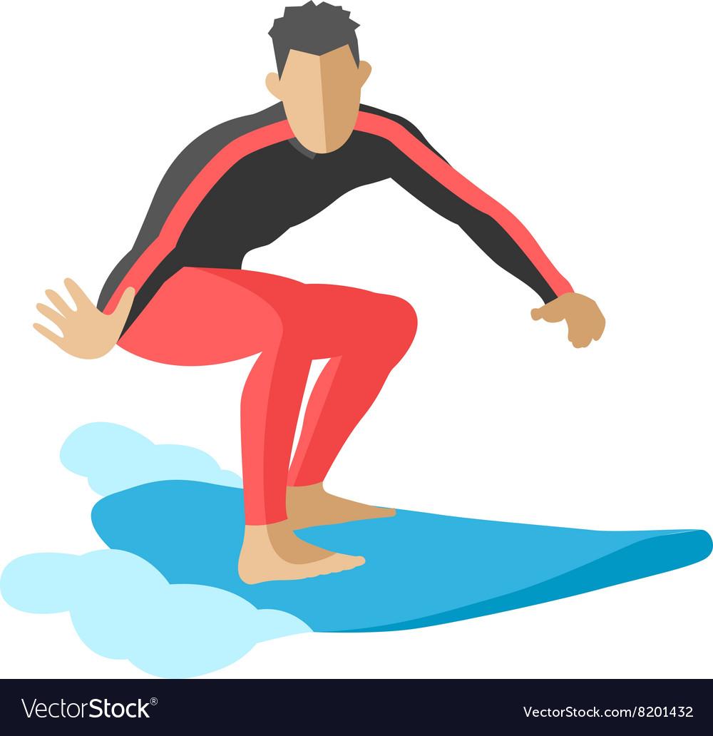 Surfer blue ocean wave getting barreled surfing
