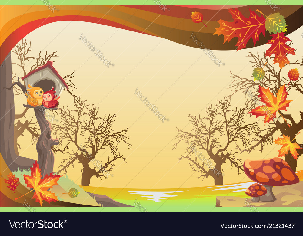 autumn or fall season background royalty free vector image