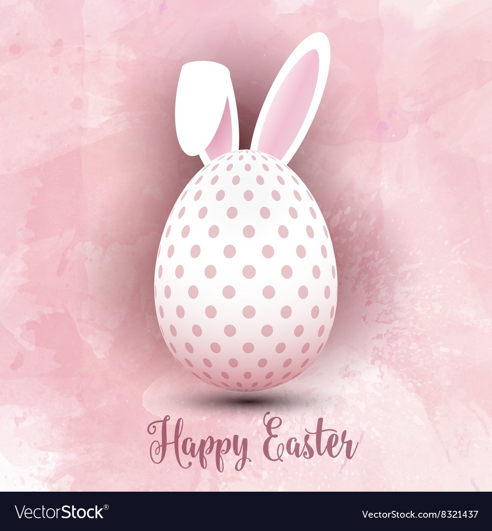 Easter egg on watercolor background 1103