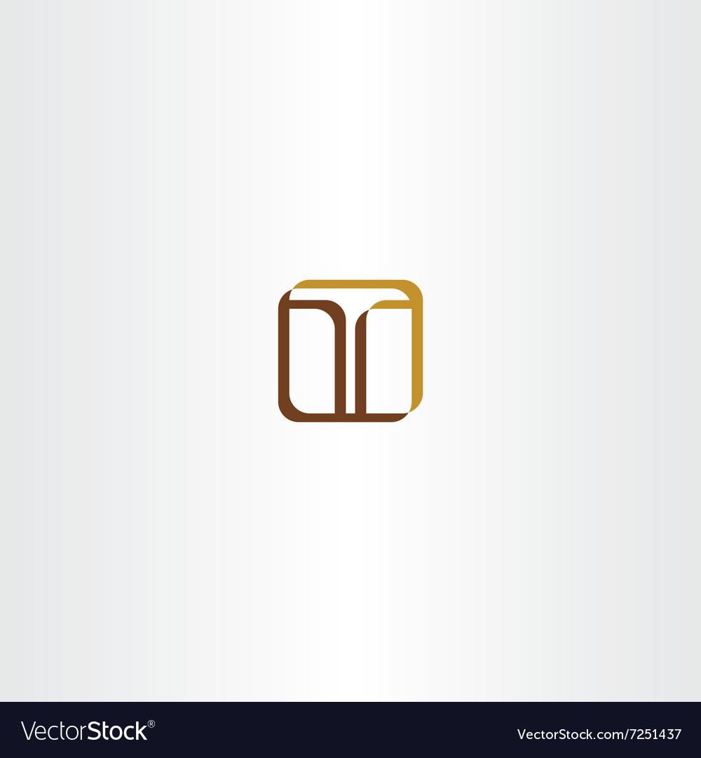 Icon t letter t sign vector image