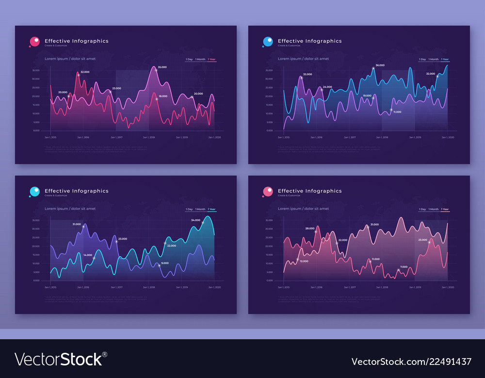 Modern infographic backgrounds with