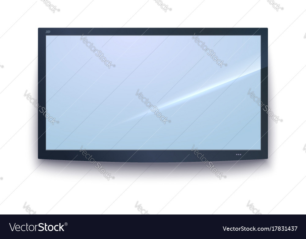 Smart tv icon tv screen with the dark frame led Vector Image