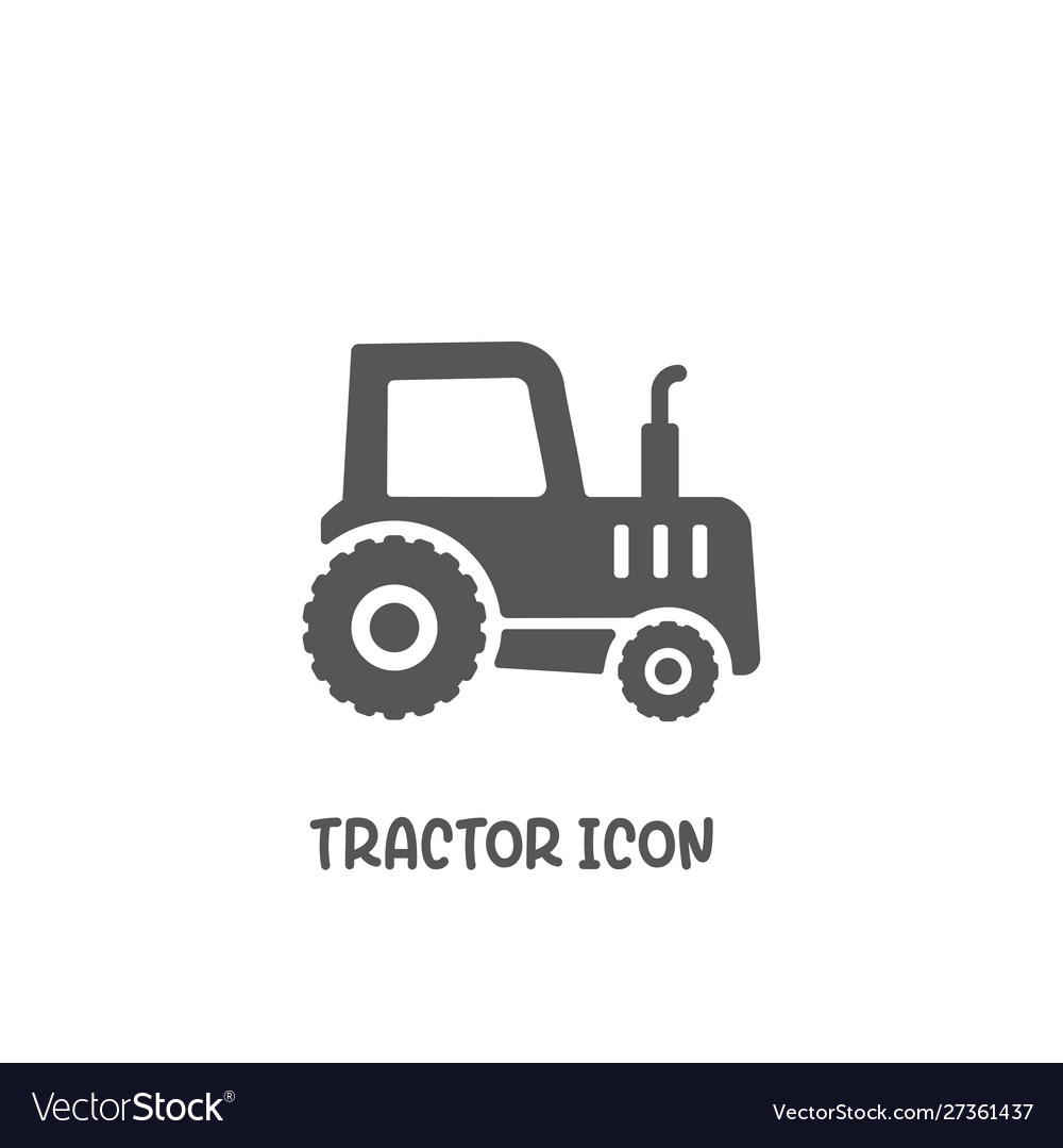 Tractor icon simple flat style