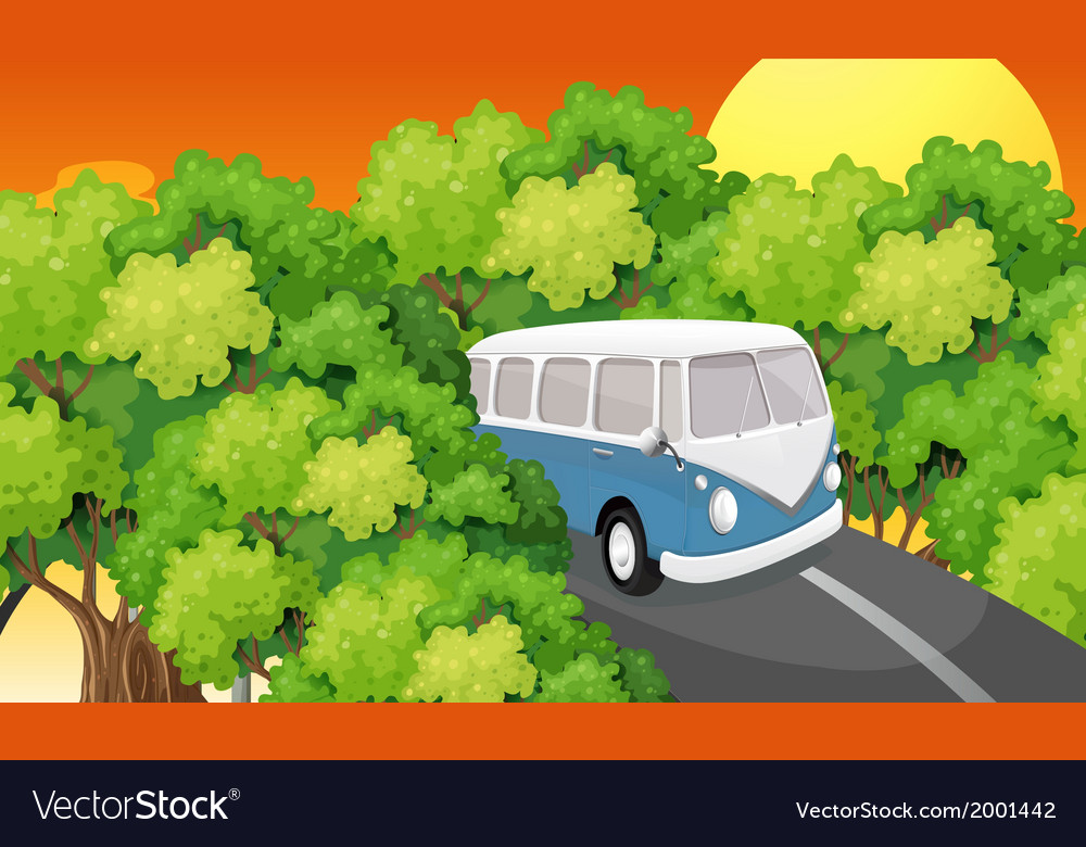 A bus travelling