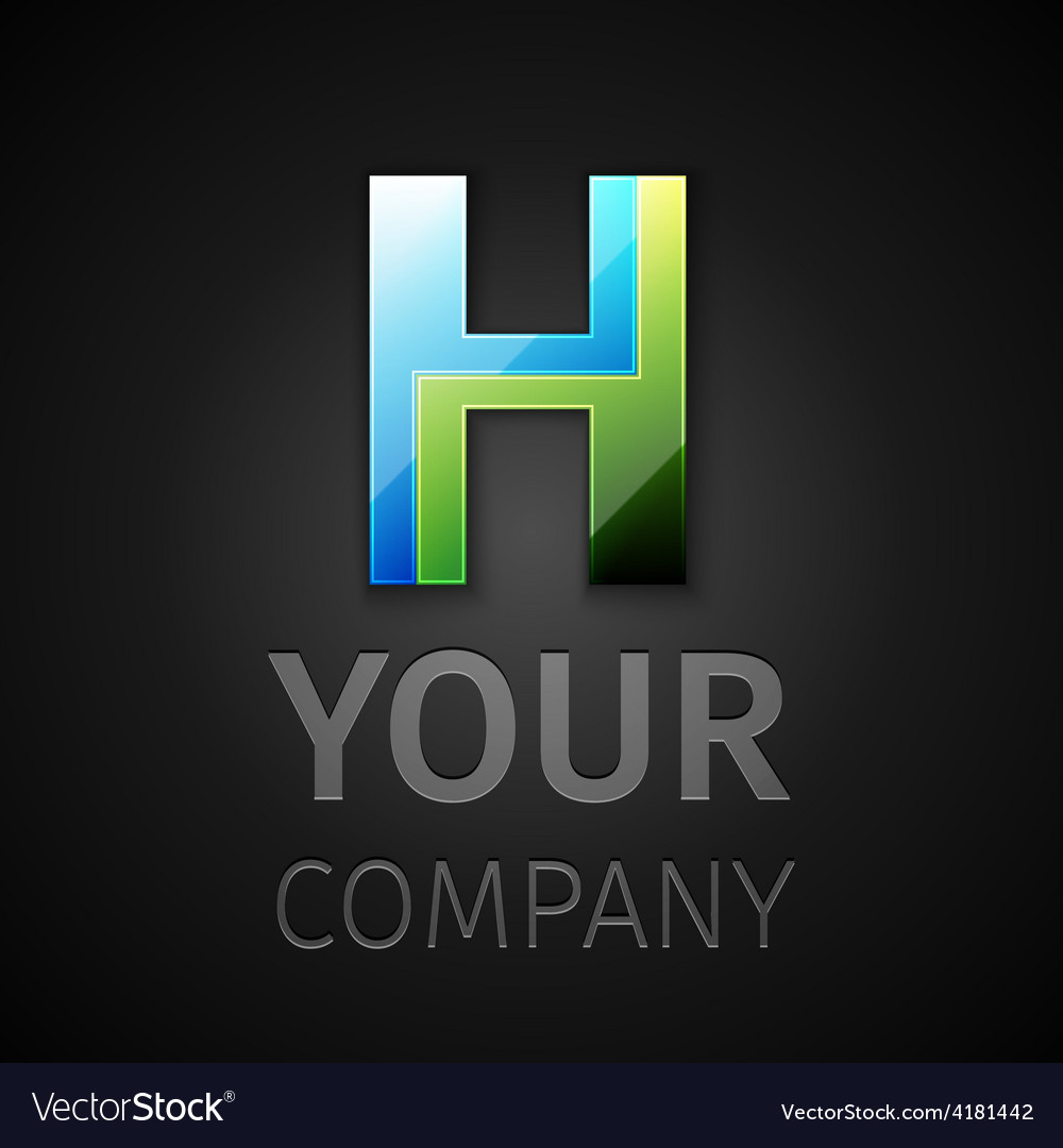 Abstract logo letter H