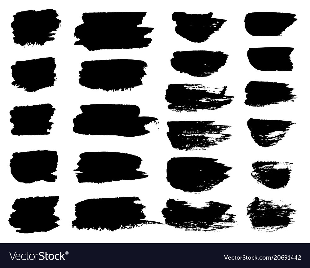 Black paint brush spots highlighter lines