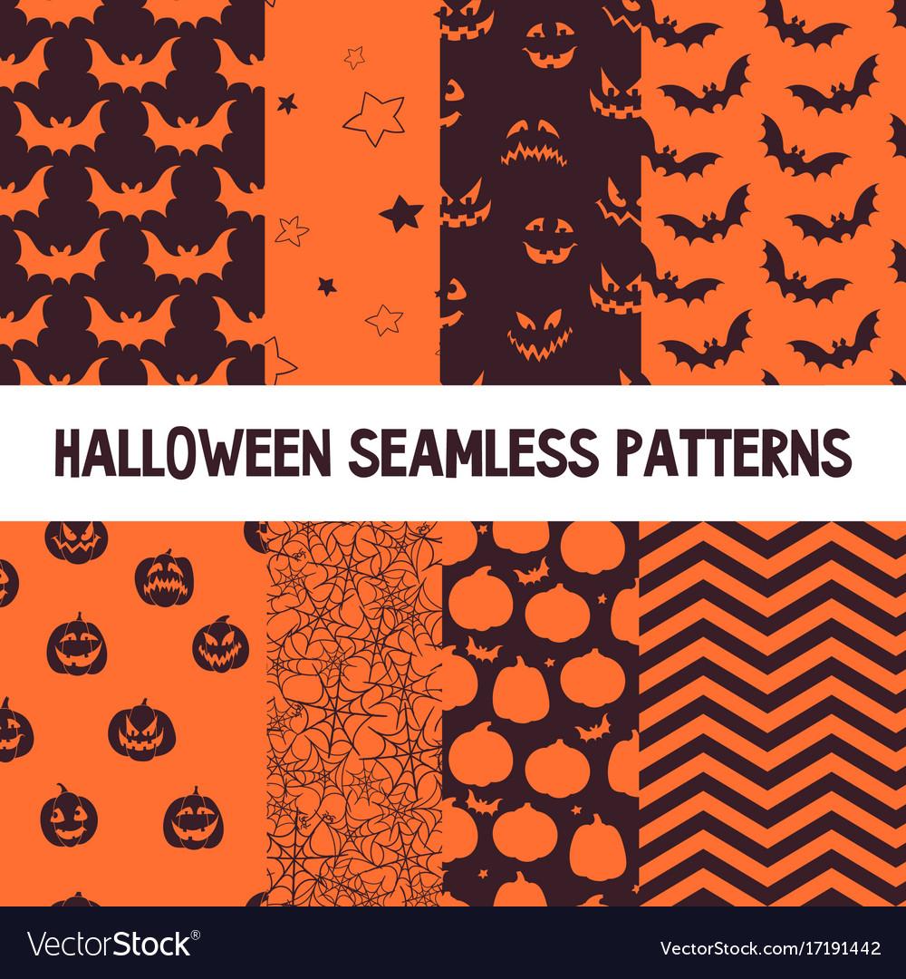 Halloween orange and black jumbo polka dot vector image