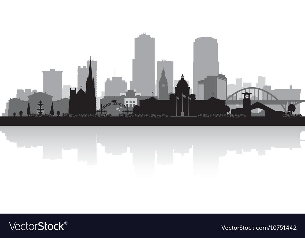 Little Rock Arkansas city skyline silhouette