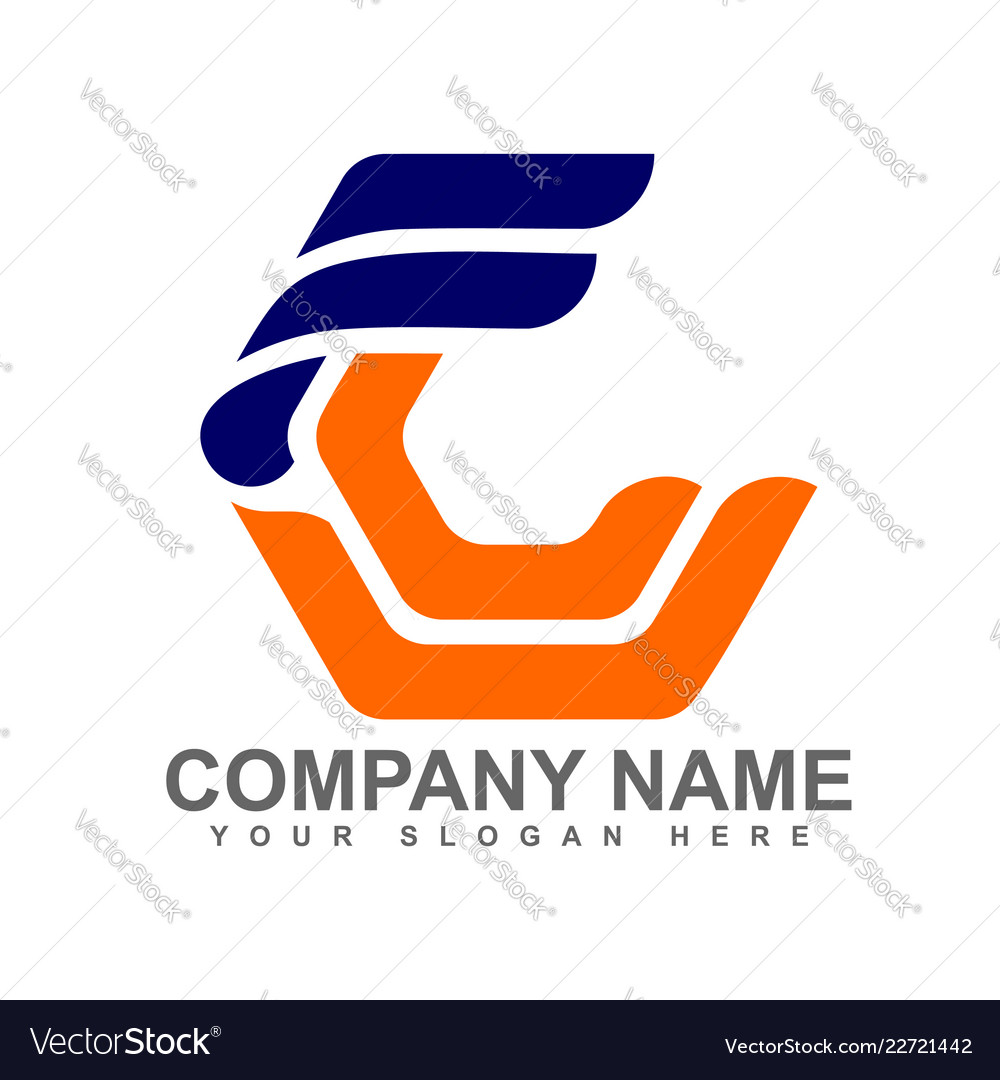 Logo letter f and c