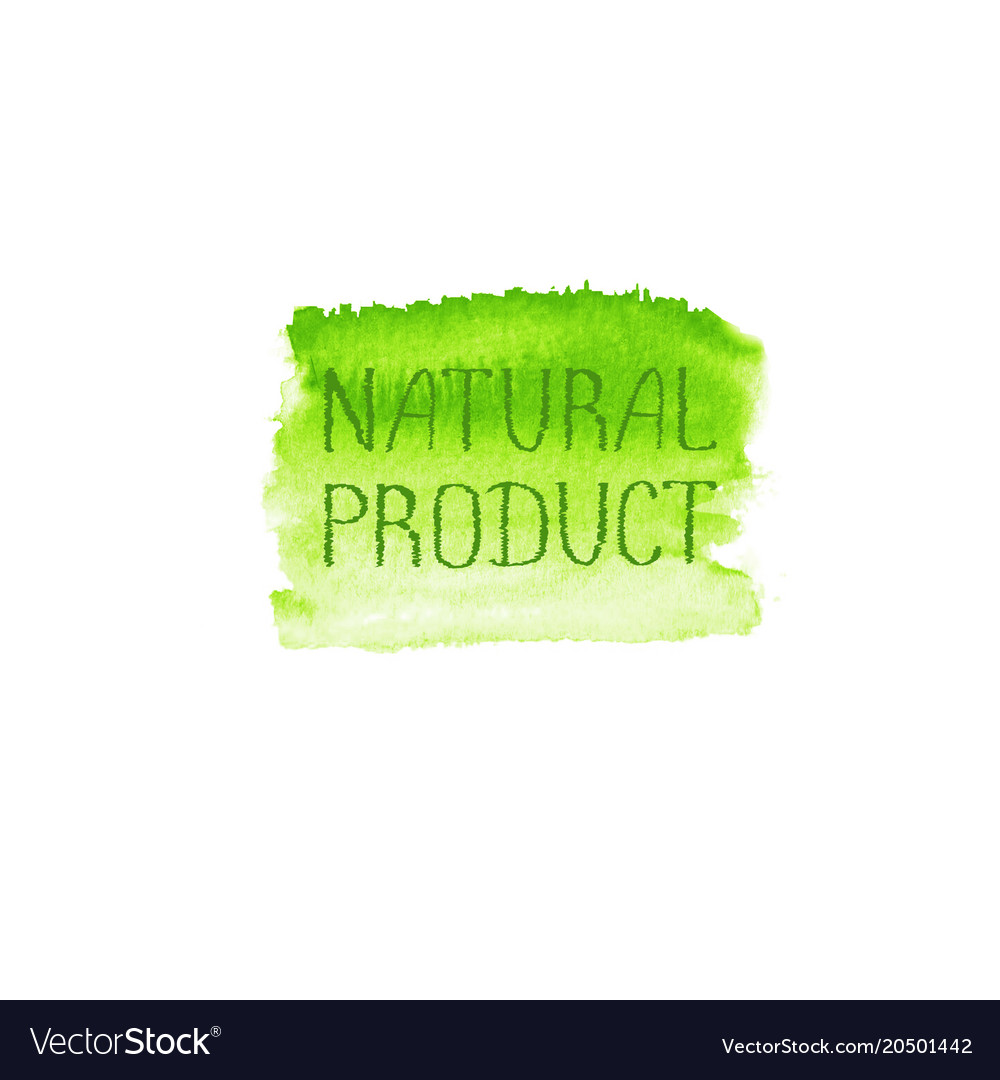 Natural products concept logo design template