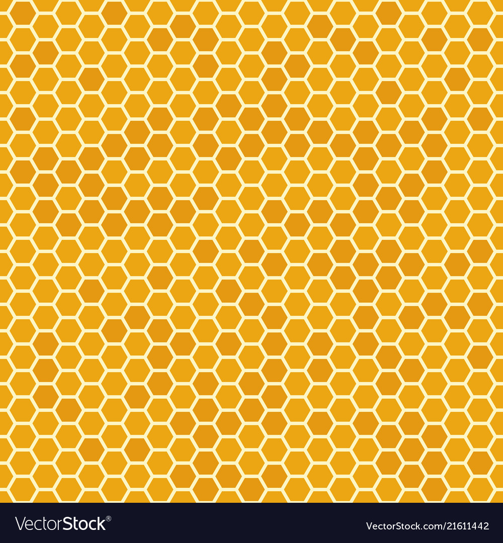 Orange seamless honey combs pattern honeycomb