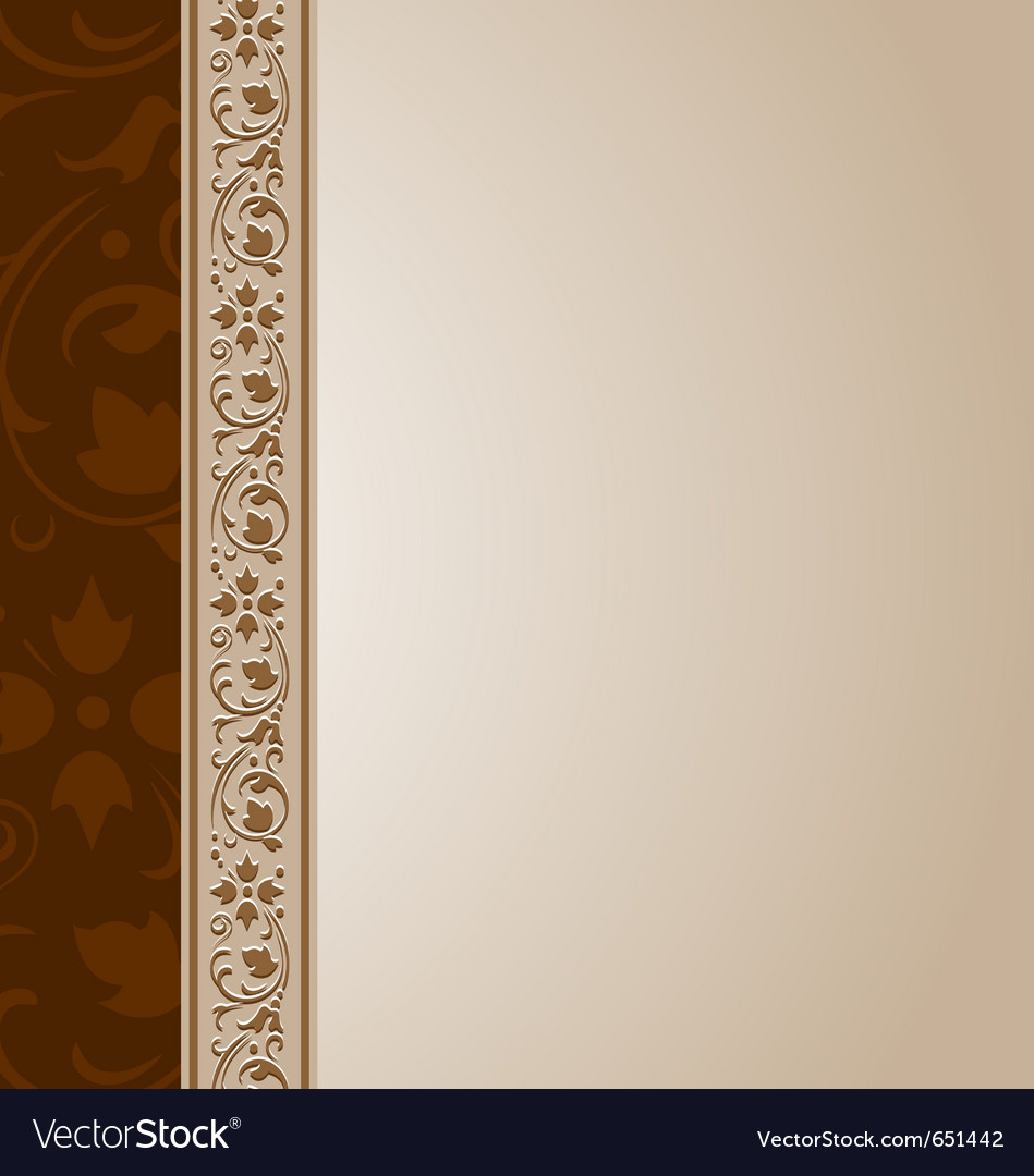 Ornamental document template