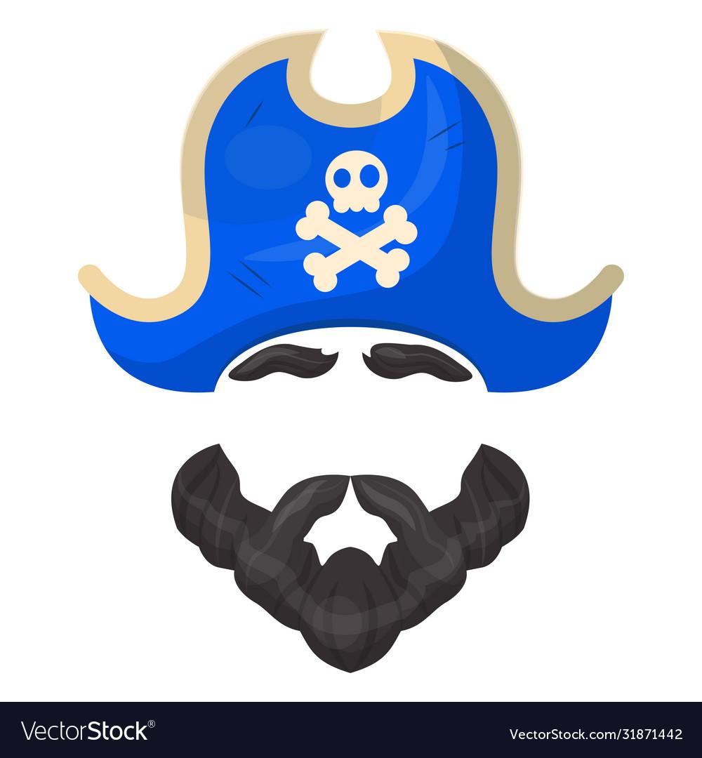 Pirate mask icon entertainment and costume fun