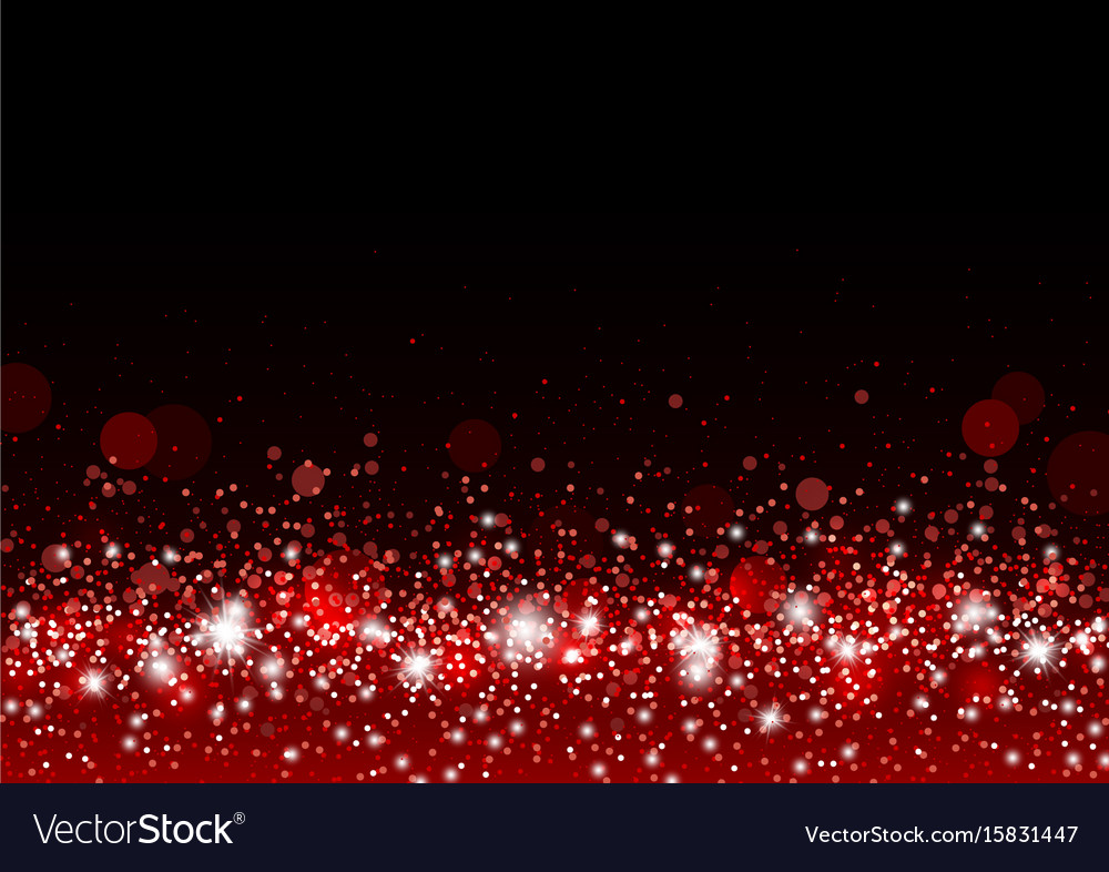 Christmas background concept design of red gitter vector image
