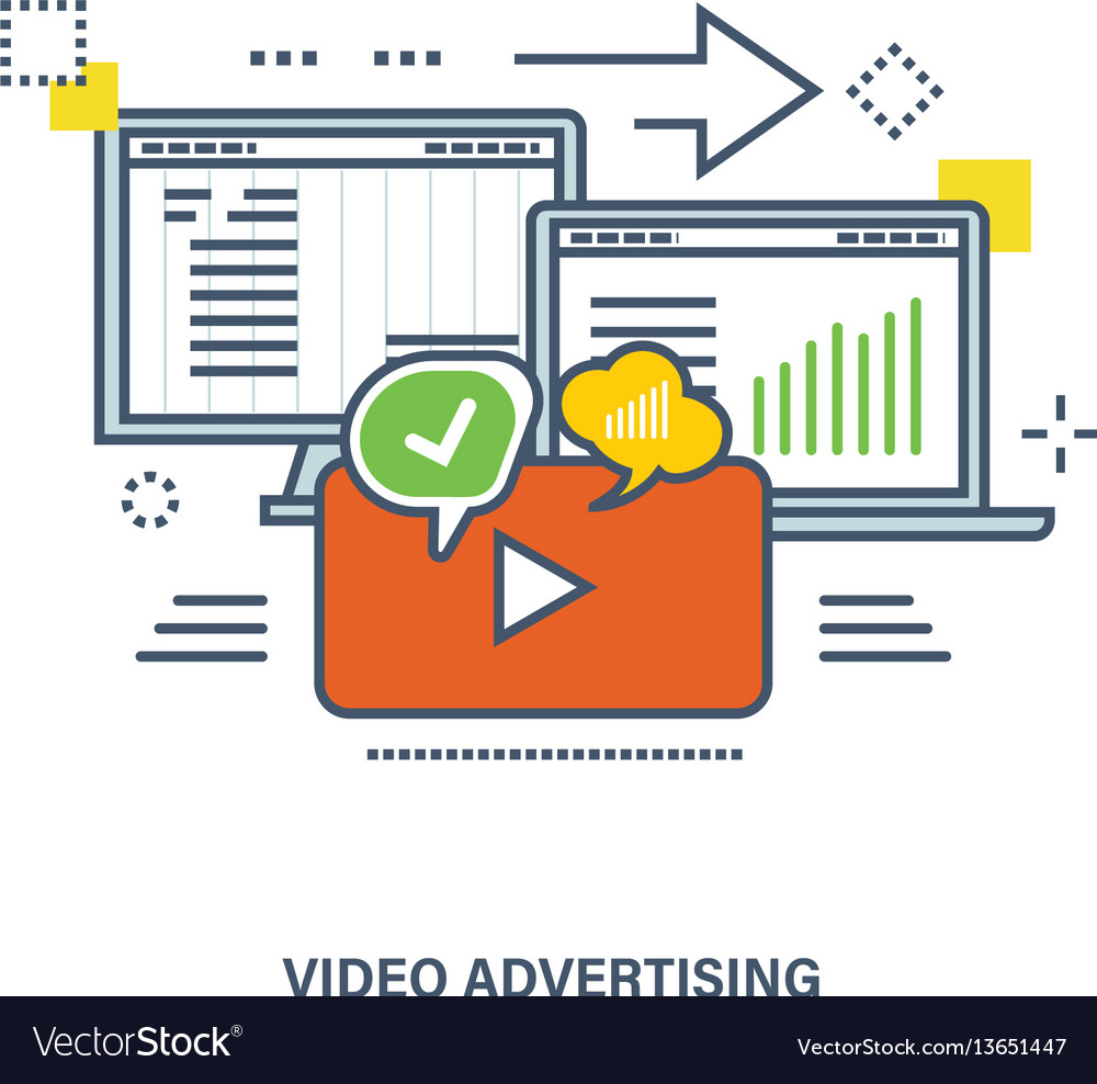 Concept of video advertising and marketing