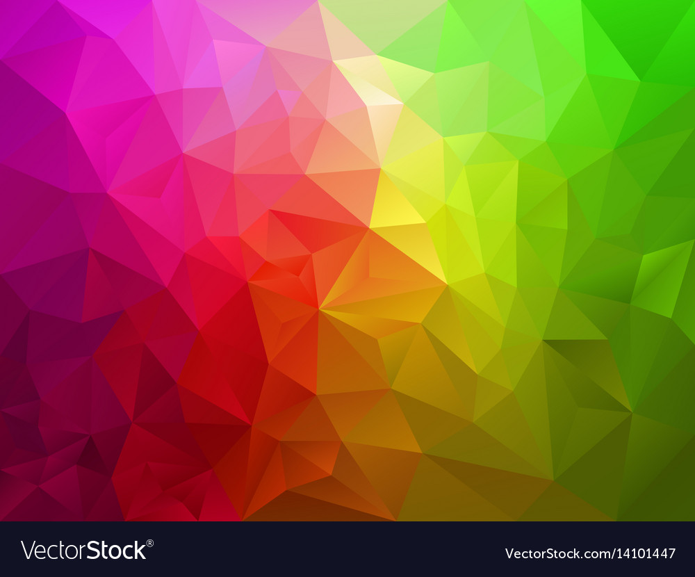 Pink Green Polygon Background Royalty Free Vector Image