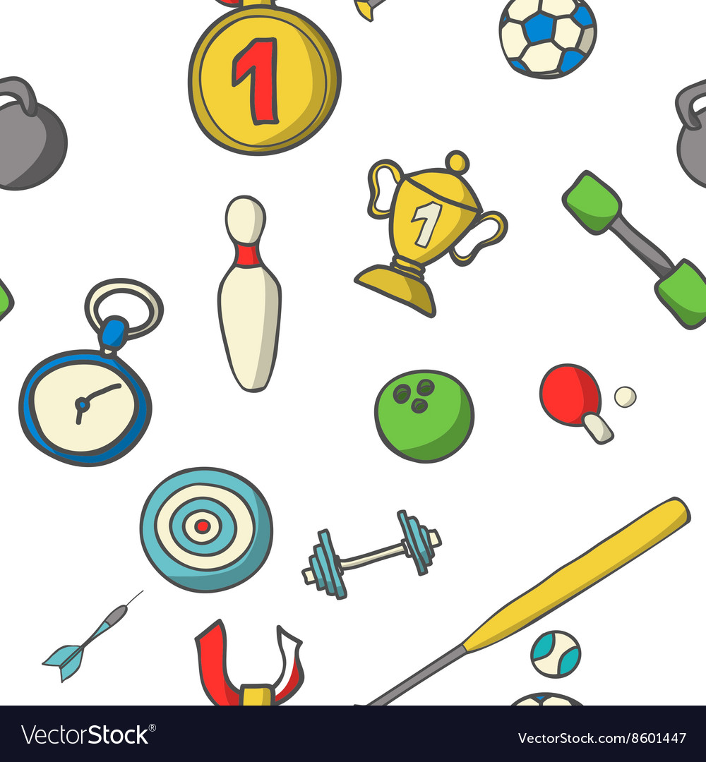 Sports set Colorful vector image