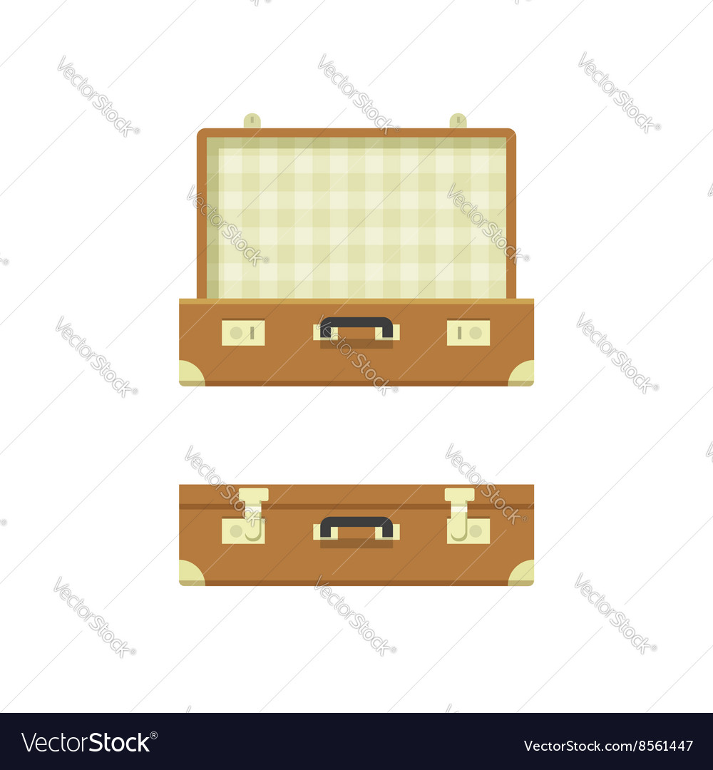 Suitcase open and closed
