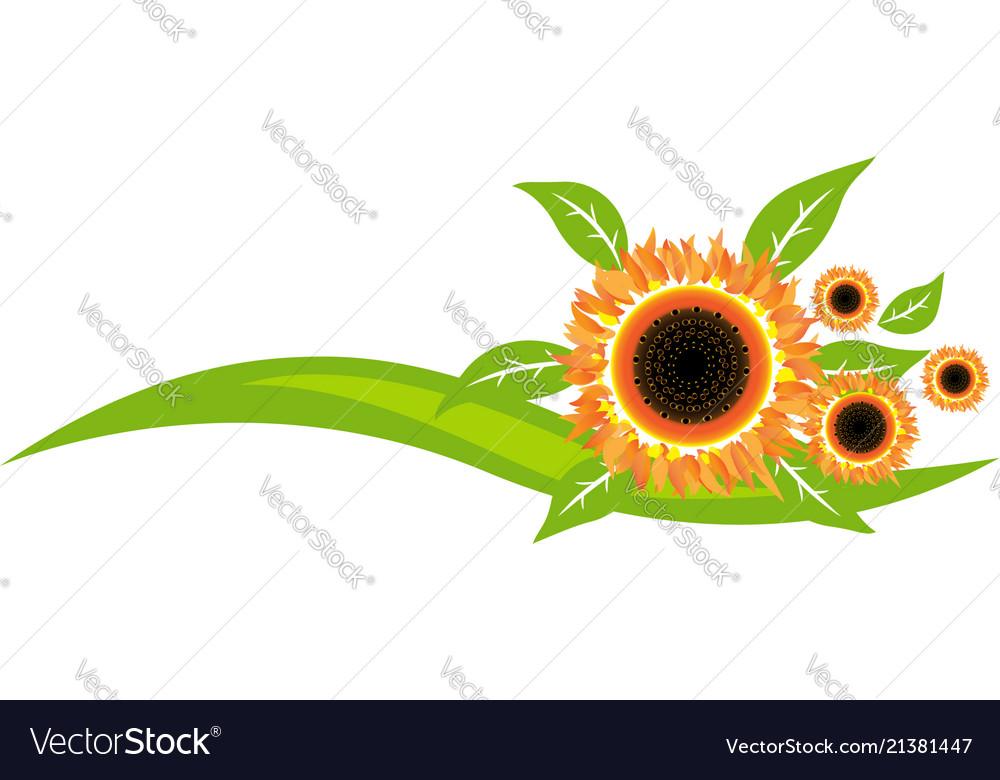 Sunflowers icon decoration design