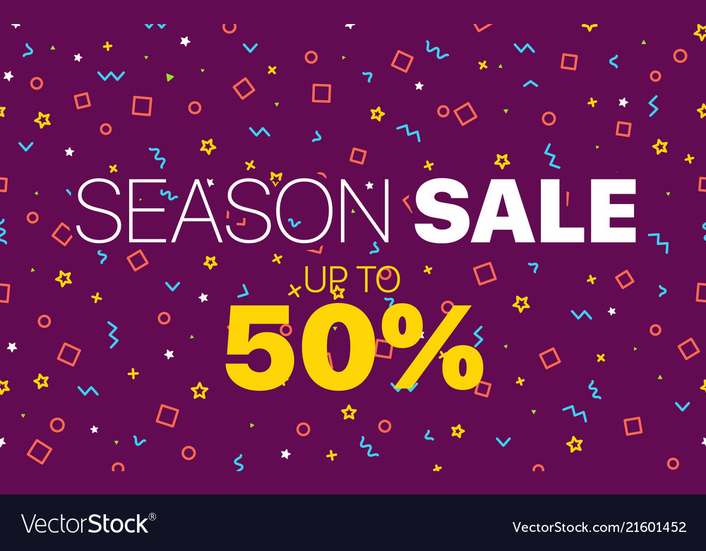 Abstract color sale banner template