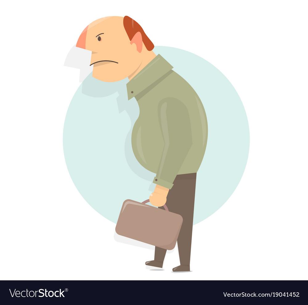 angry old man character cartoon character comic vector image