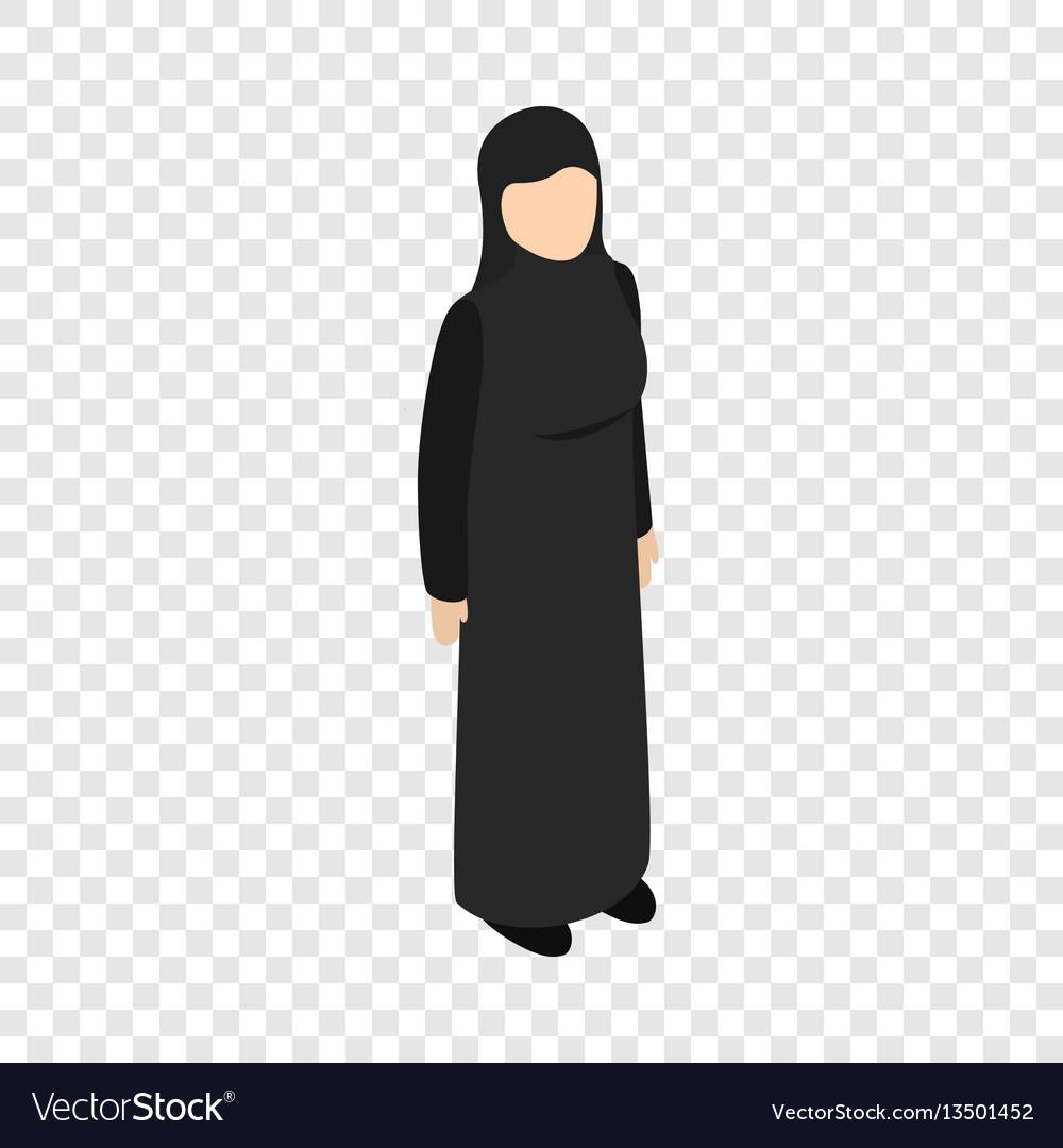Arab woman isometric icon