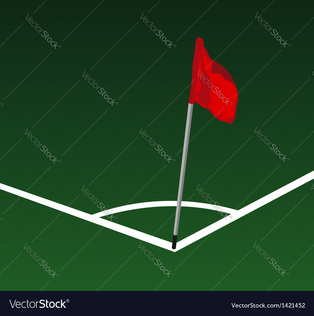 Corner Soccer field vector image