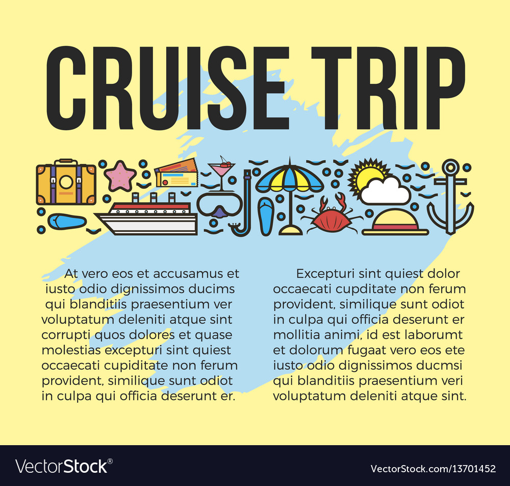 Cruise trip information list vector image