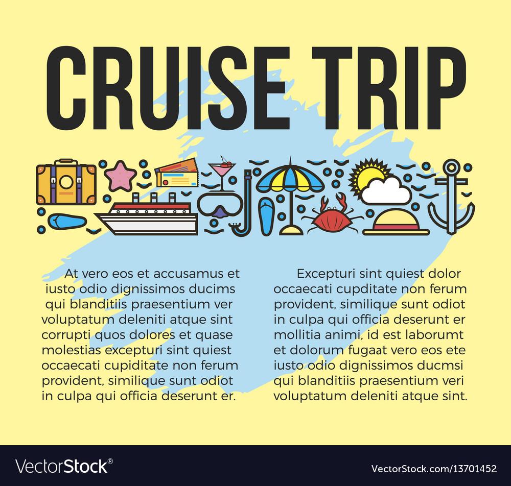Cruise trip information list