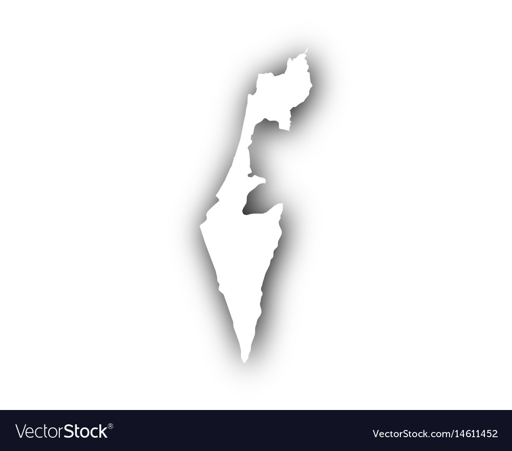 Map of israel with shadow