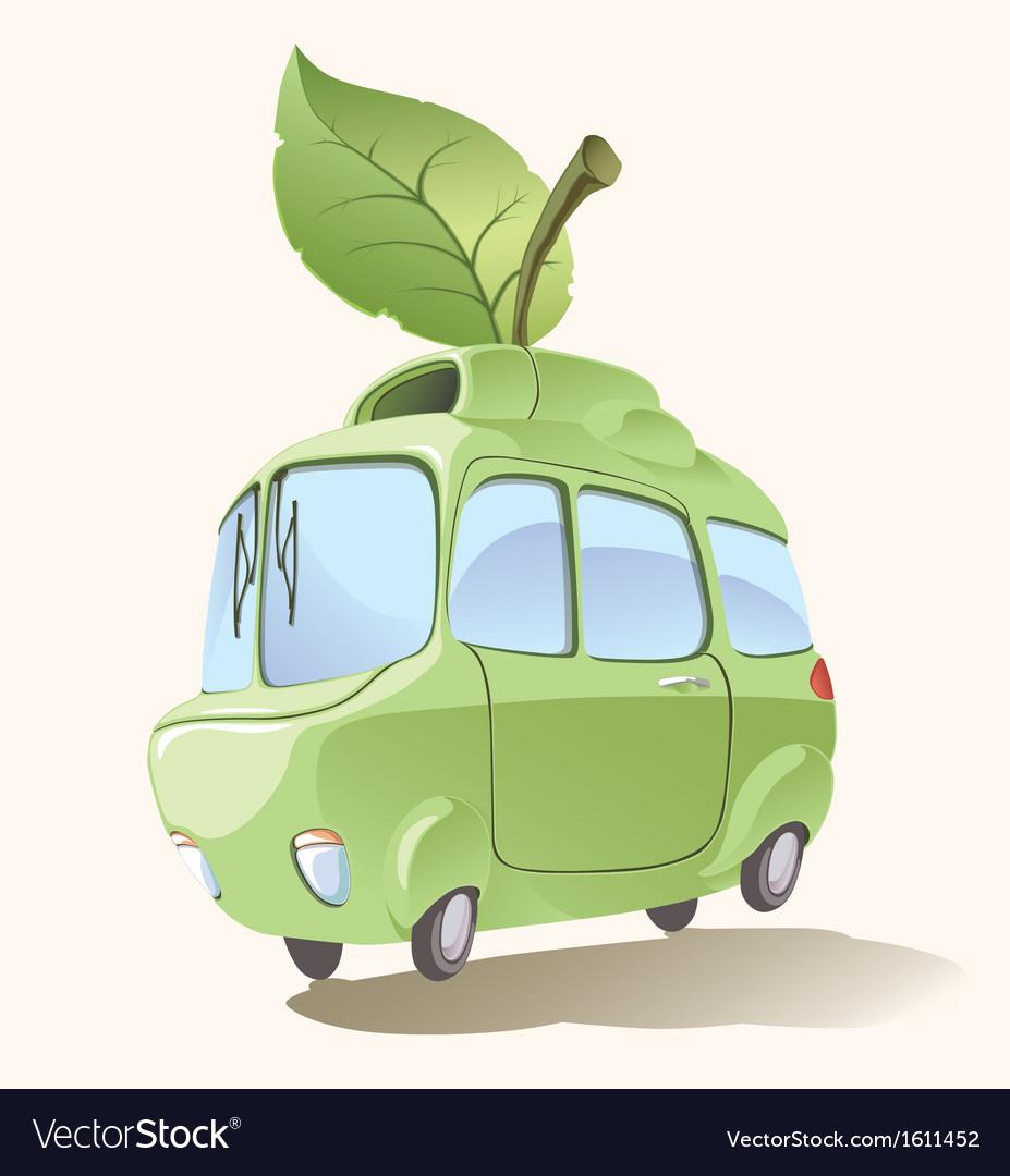 Small Eco-friendly Car vector image