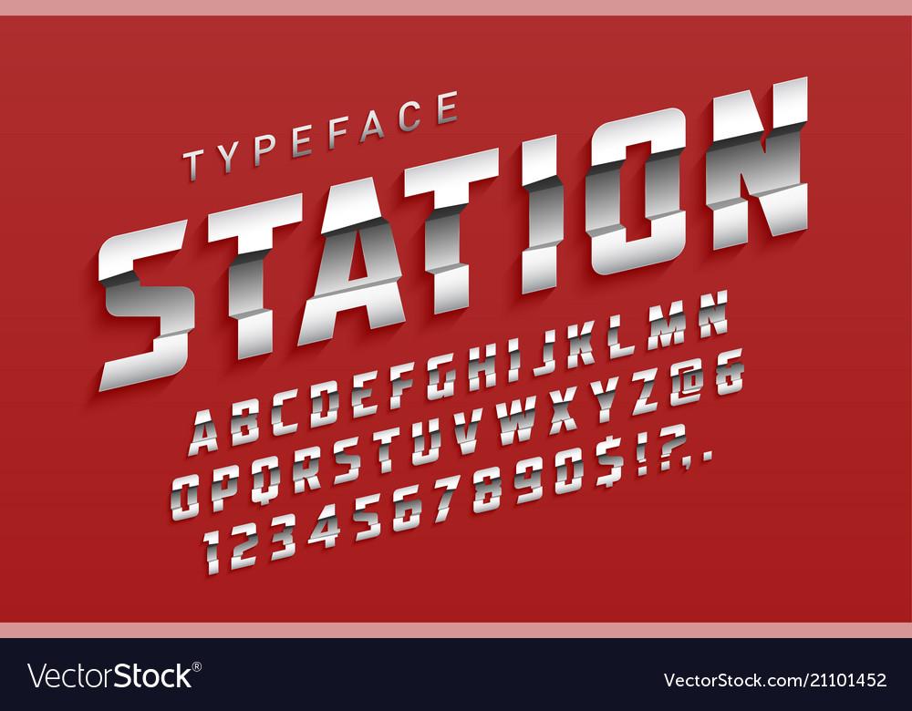Station futuristic display typeface design