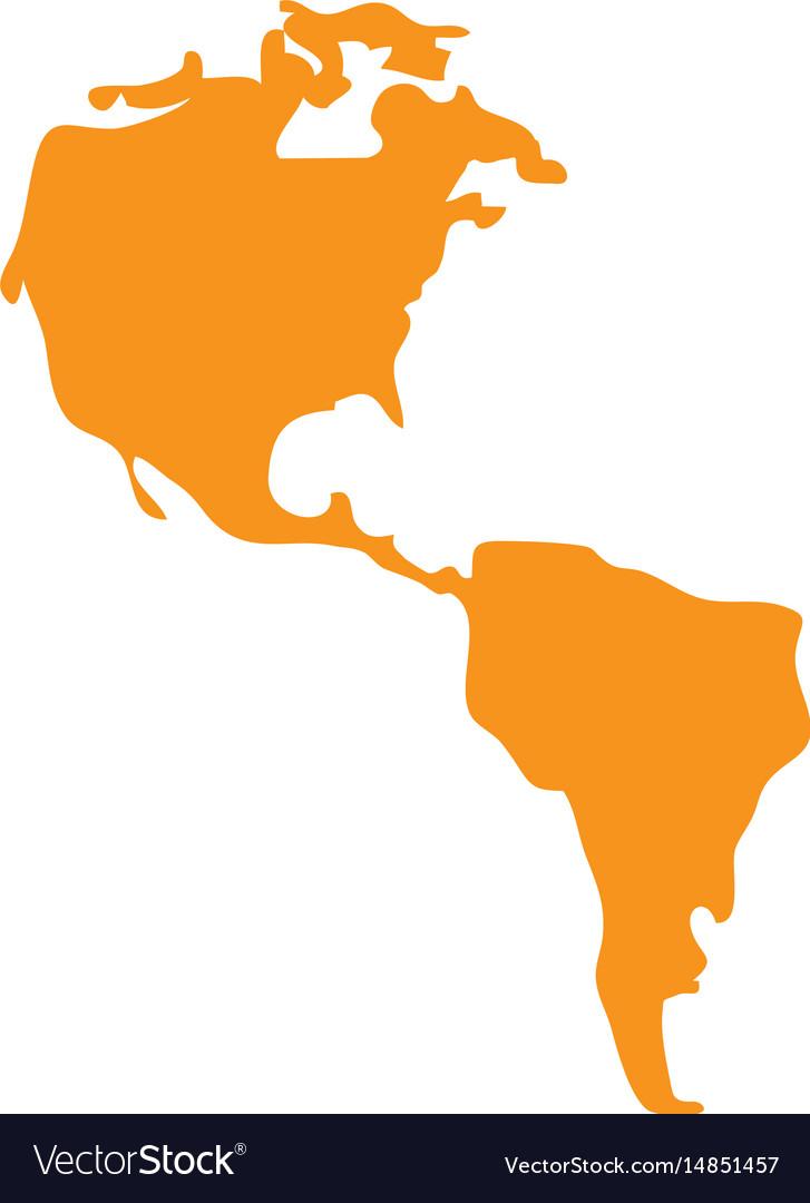 America map icon Royalty Free Vector Image   VectorStock