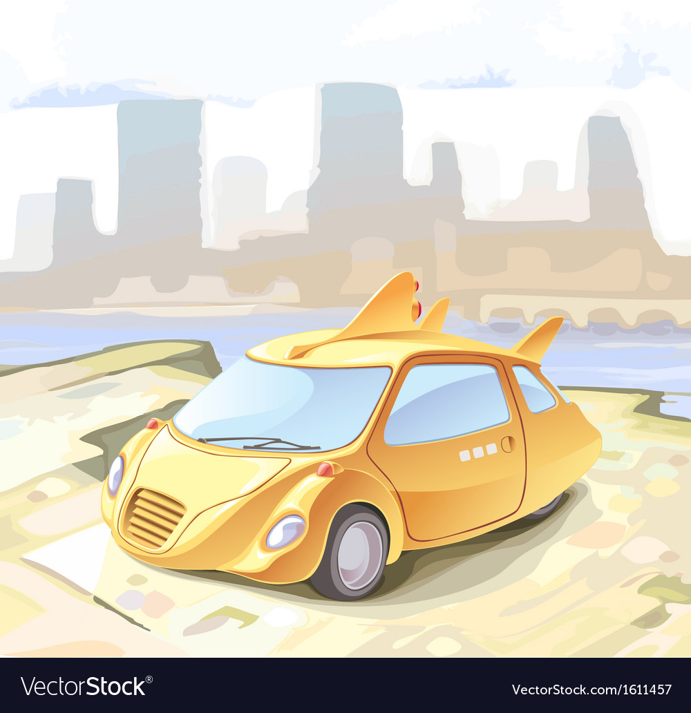Futuristic Cab vector image