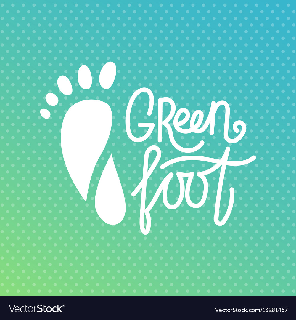 Green foot health center logo orthopedic eco