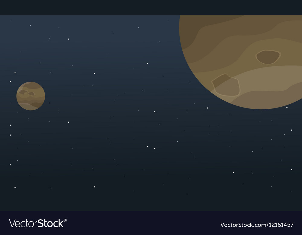 Planet space cartoon background