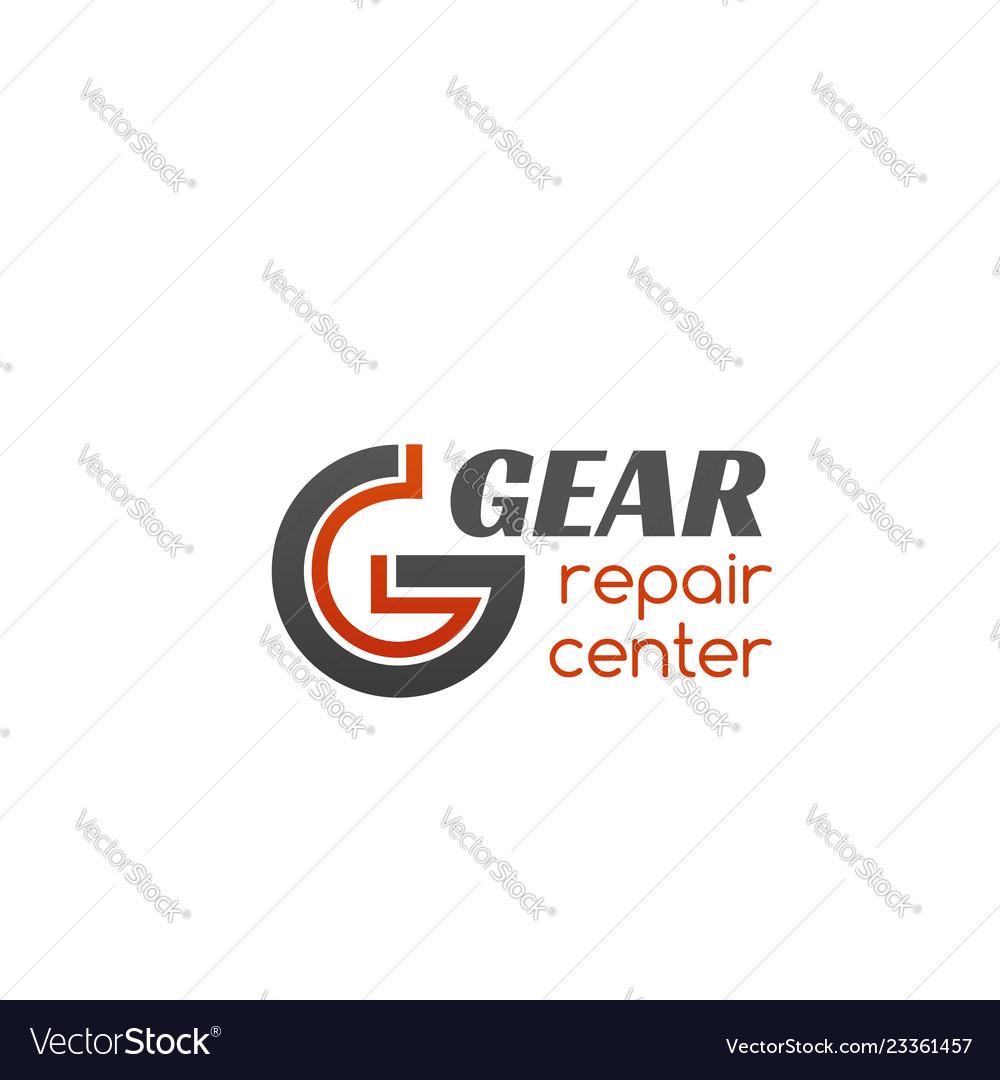 Repair center gear badge