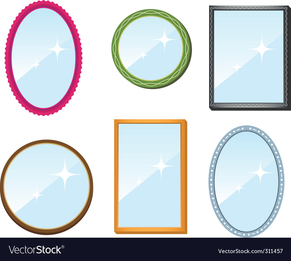 Set of mirrors vector image