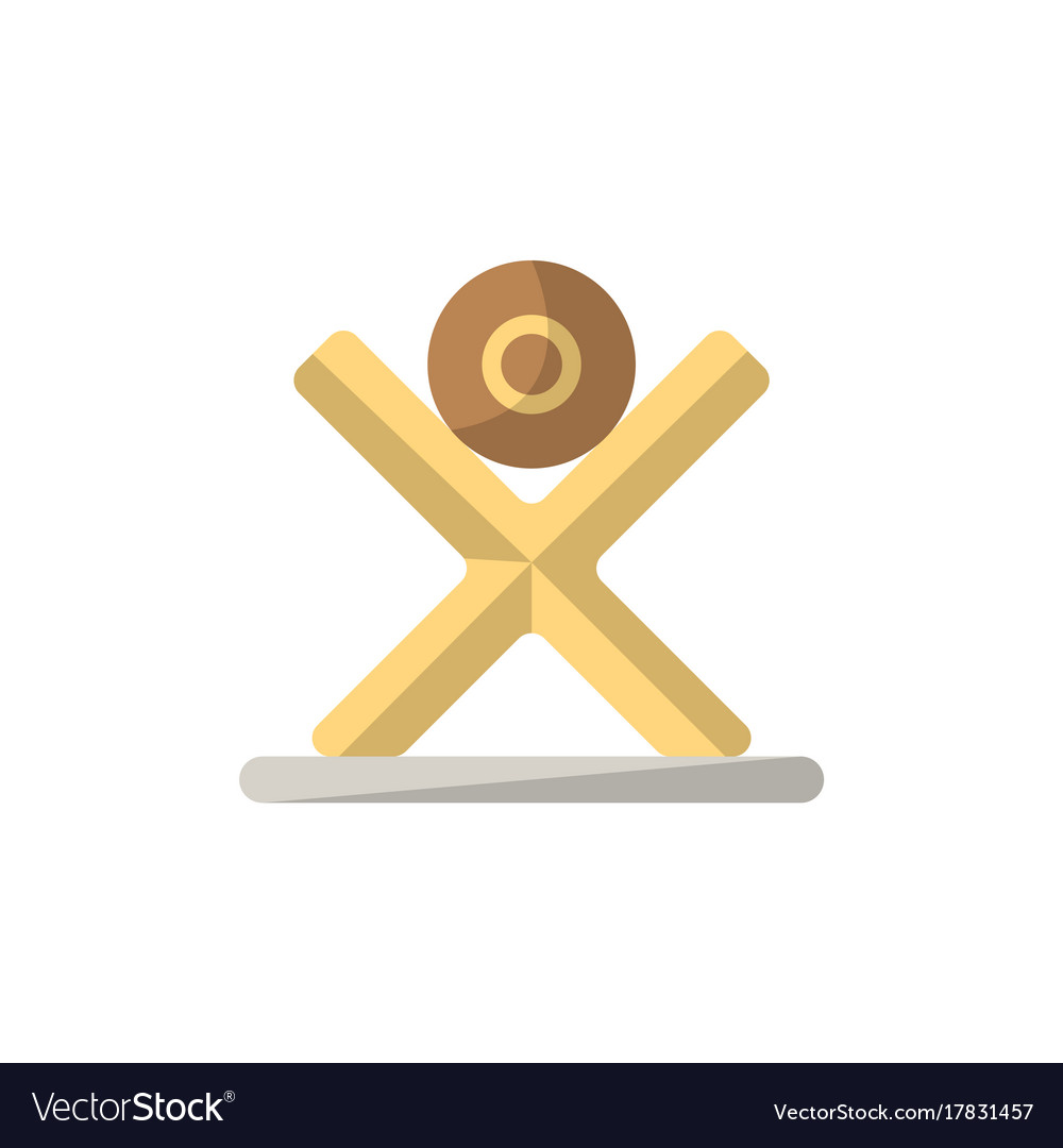 Tree log icon in flat style