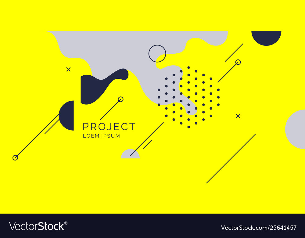 Trendy abstract background composition of